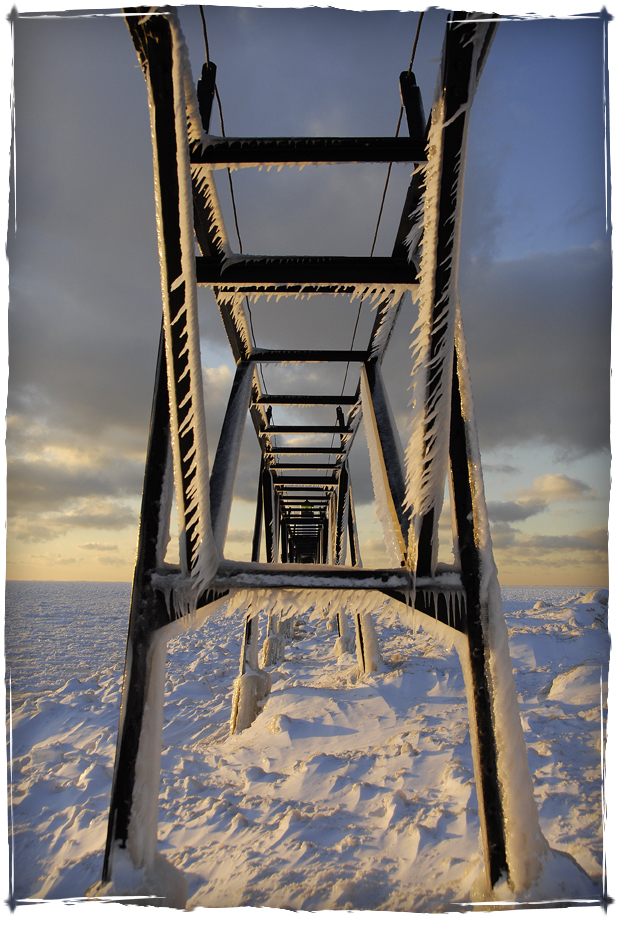 Ice Covered Catwalk